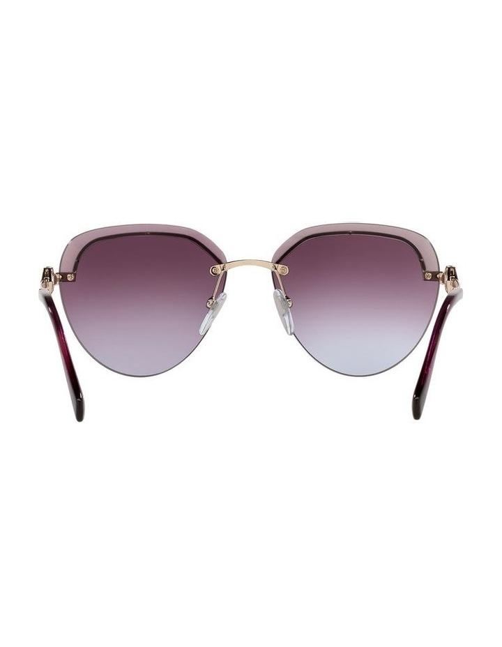 Gold/Purple Rimless Aviator Sunglasses 0BV6154B image 7