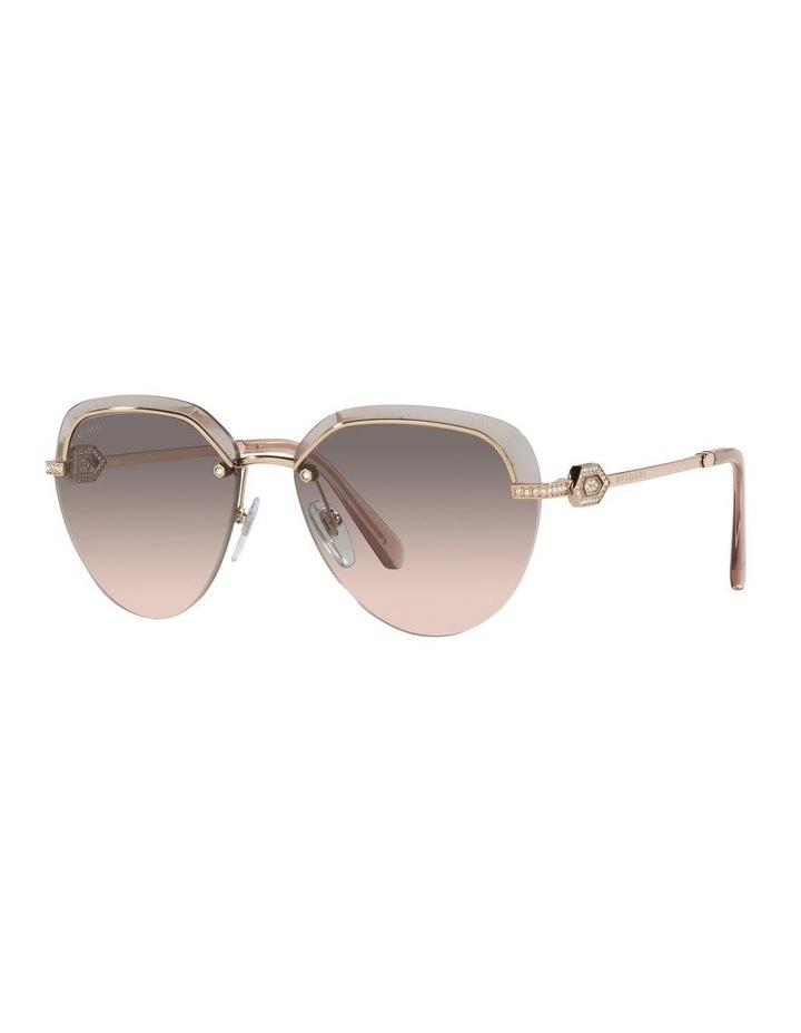 Gold/Grey Rimless Aviator Sunglasses 0BV6154B image 1