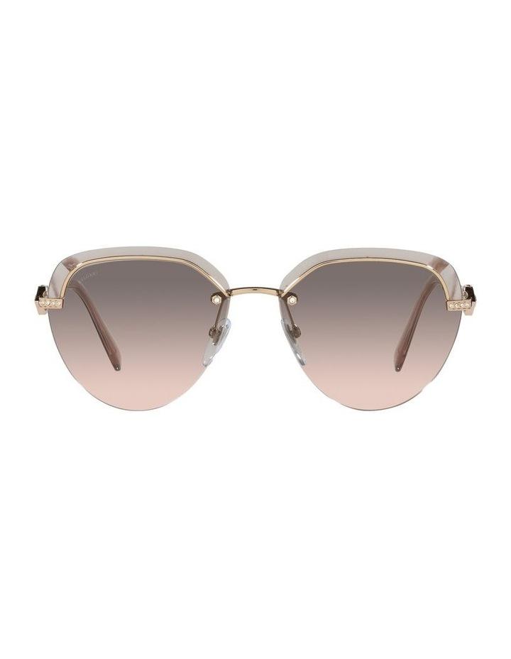 Gold/Grey Rimless Aviator Sunglasses 0BV6154B image 2