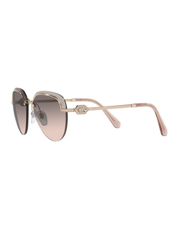 Gold/Grey Rimless Aviator Sunglasses 0BV6154B image 3