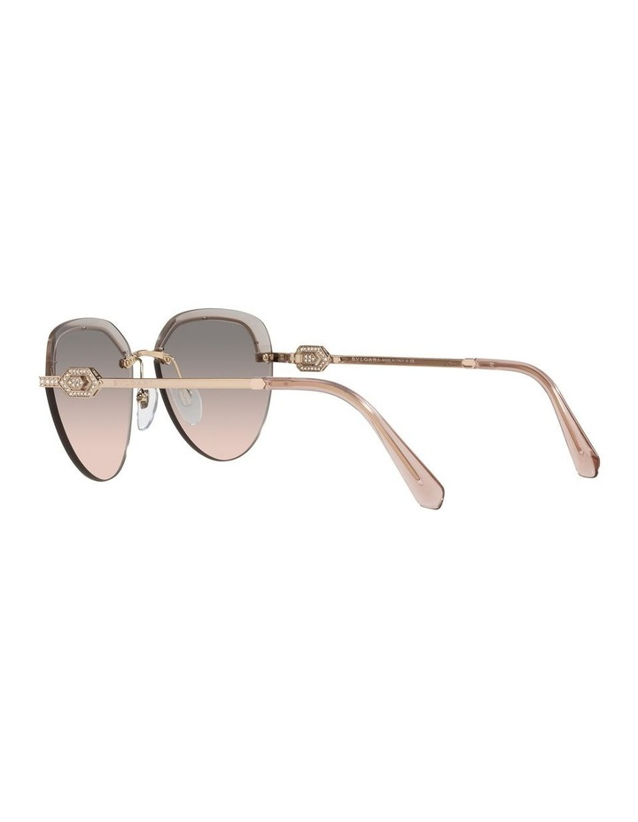 Gold/Grey Rimless Aviator Sunglasses 0BV6154B image 5