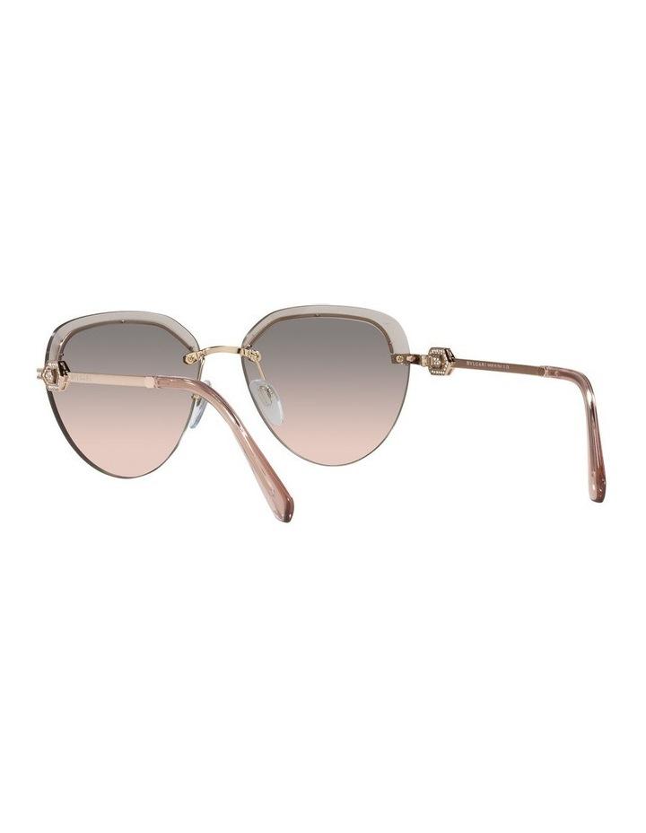 Gold/Grey Rimless Aviator Sunglasses 0BV6154B image 6
