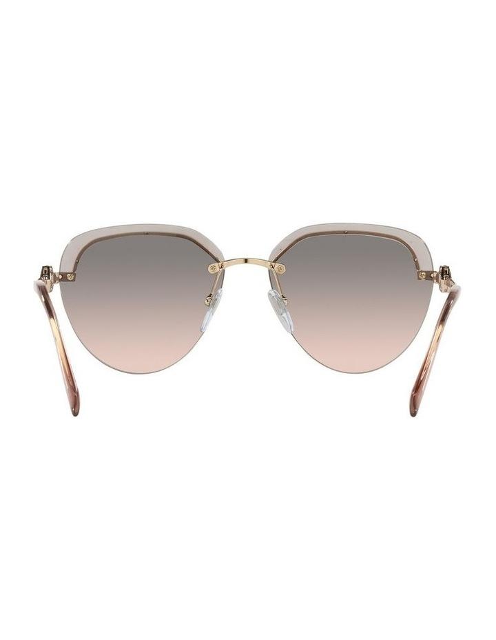Gold/Grey Rimless Aviator Sunglasses 0BV6154B image 7