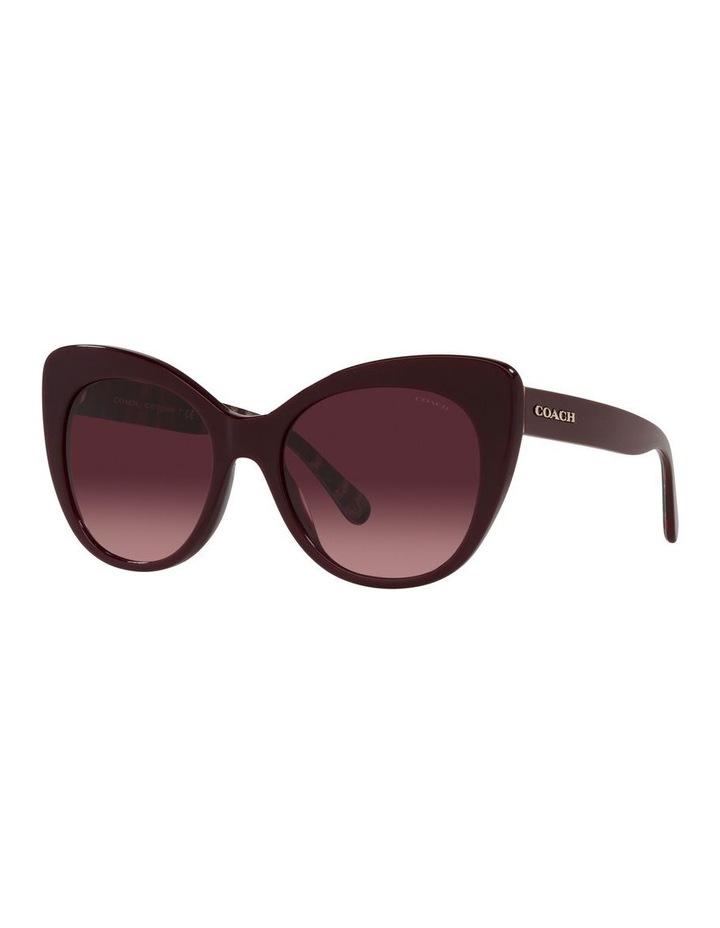 Red Burgundy Cat Eye Sunglasses 0HC8317 C3448 image 1