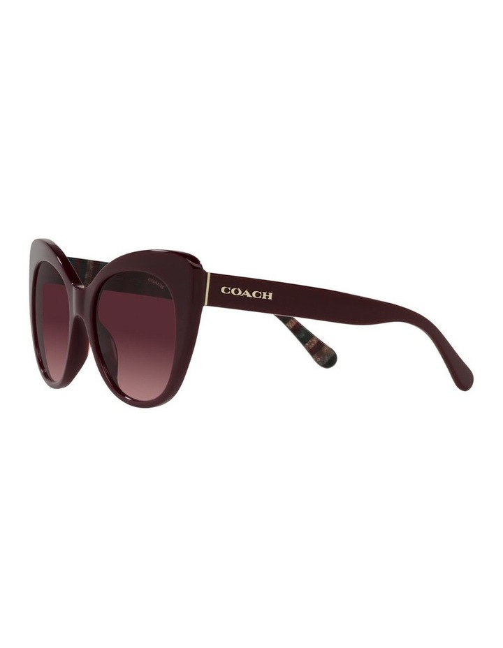 Red Burgundy Cat Eye Sunglasses 0HC8317 C3448 image 3