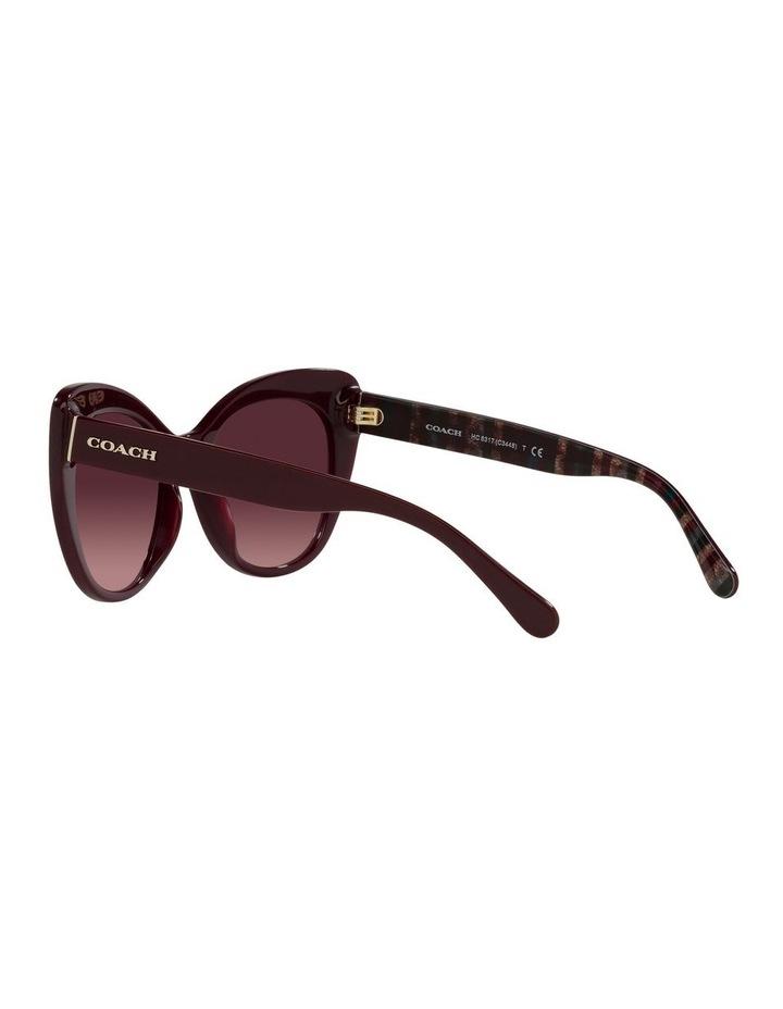 Red Burgundy Cat Eye Sunglasses 0HC8317 C3448 image 5