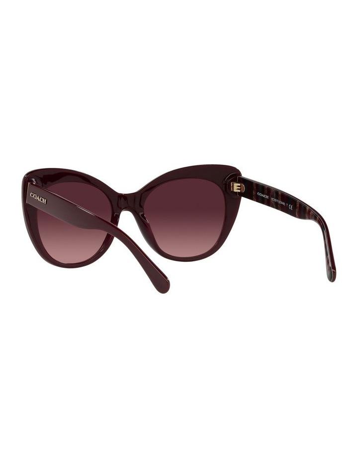 Red Burgundy Cat Eye Sunglasses 0HC8317 C3448 image 6