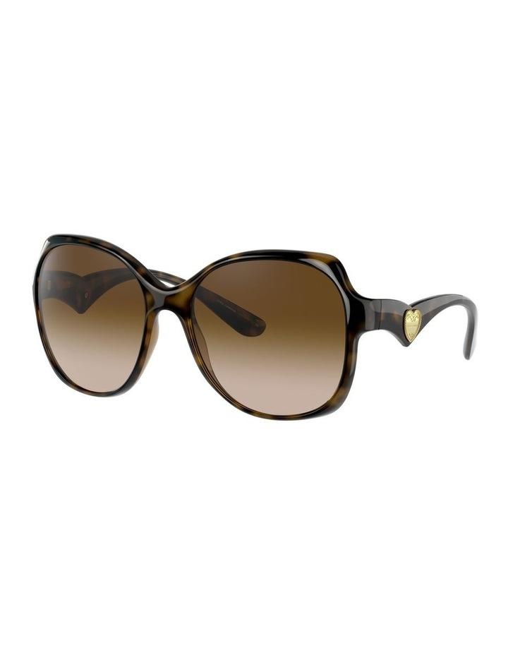 Tortoise Oversized Sunglasses 0DG6154 image 1