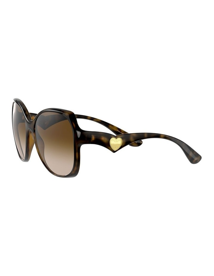Tortoise Oversized Sunglasses 0DG6154 image 3