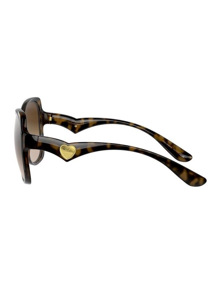 Tortoise Oversized Sunglasses 0DG6154 image 4