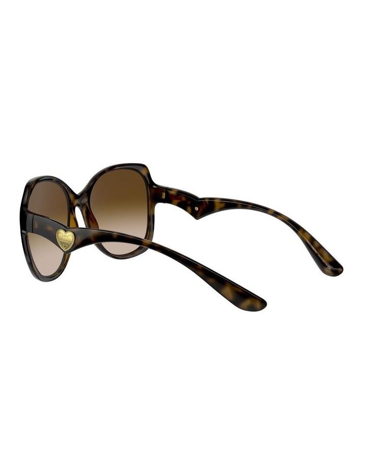 Tortoise Oversized Sunglasses 0DG6154 image 5