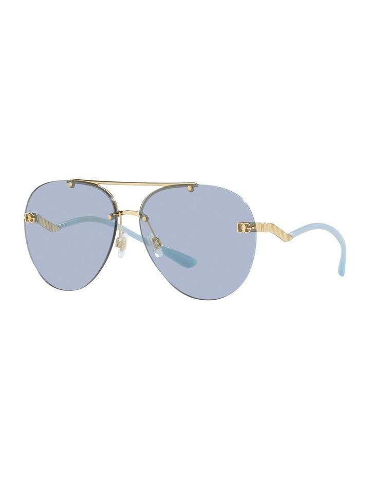 Gold/Blue Aviator Sunglasses 0DG2272 image 1
