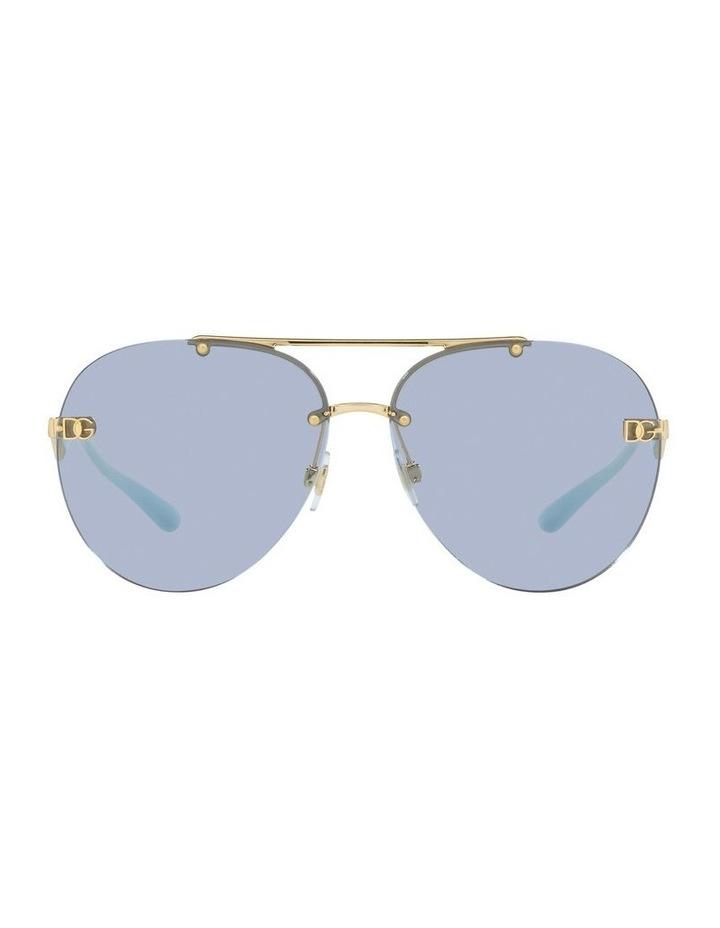 Gold/Blue Aviator Sunglasses 0DG2272 image 2