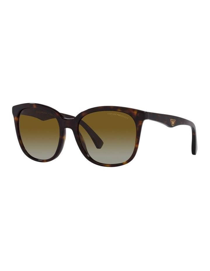 Polarised Brown Rectangle Sunglasses 0EA4157 image 1