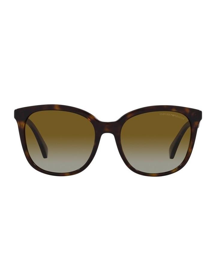 Polarised Brown Rectangle Sunglasses 0EA4157 image 2