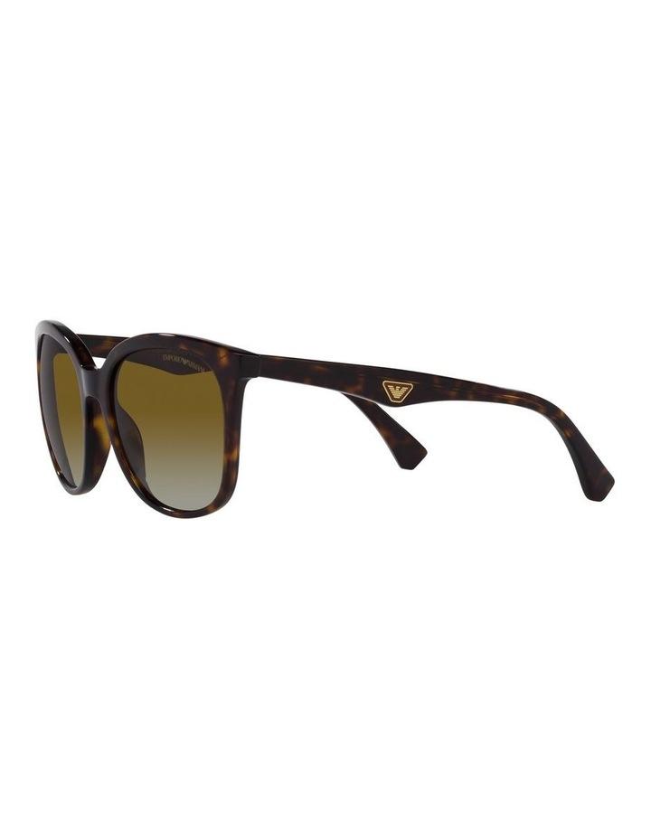 Polarised Brown Rectangle Sunglasses 0EA4157 image 3