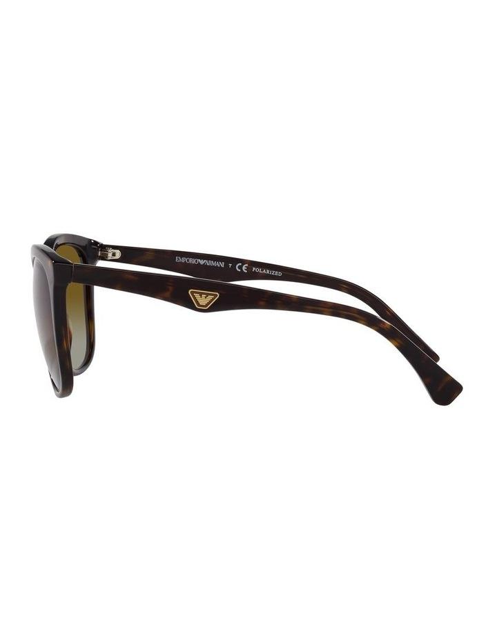 Polarised Brown Rectangle Sunglasses 0EA4157 image 4