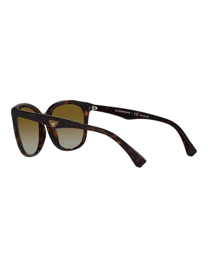 Polarised Brown Rectangle Sunglasses 0EA4157 image 5