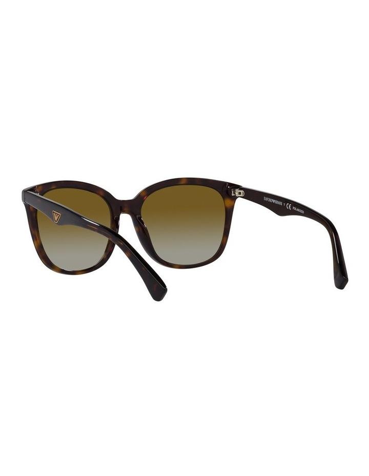 Polarised Brown Rectangle Sunglasses 0EA4157 image 6