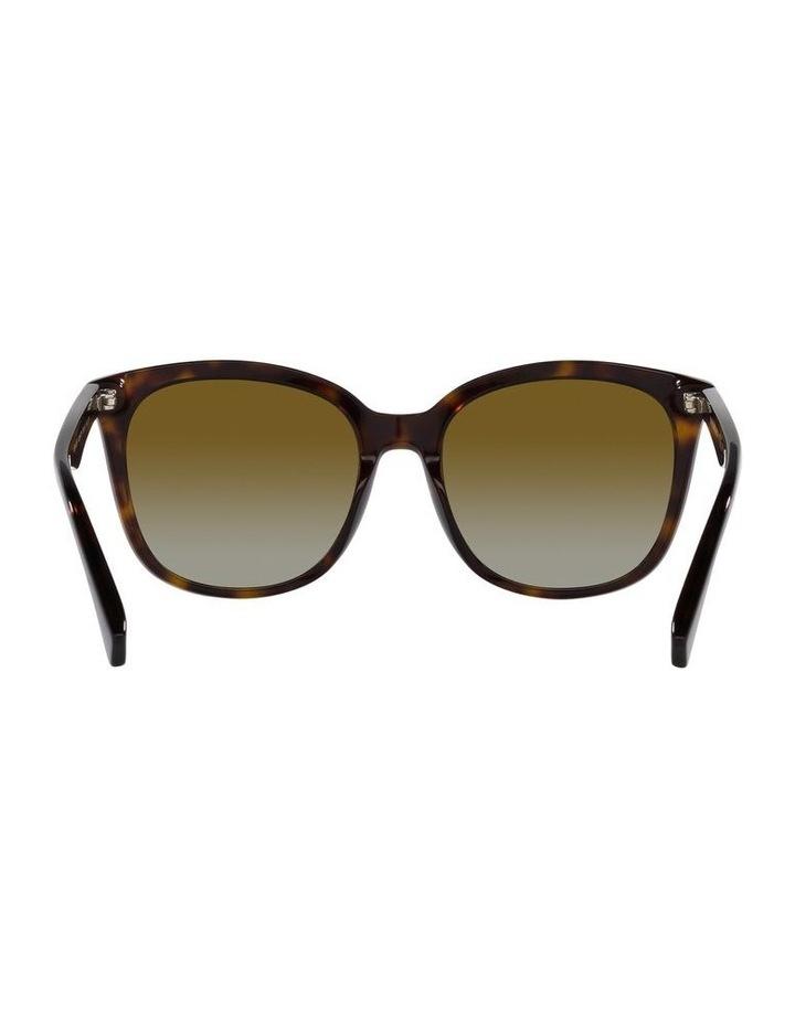 Polarised Brown Rectangle Sunglasses 0EA4157 image 7