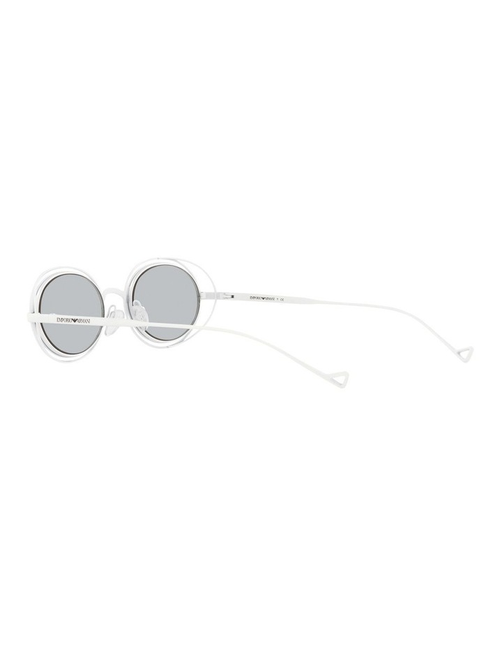 White Metal With Grey Tint Oval Sunglasses image 5