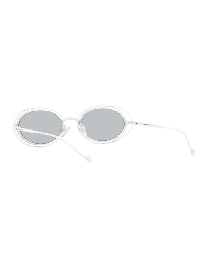 White Metal With Grey Tint Oval Sunglasses image 6