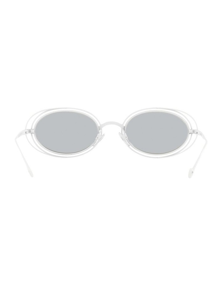 White Metal With Grey Tint Oval Sunglasses image 7