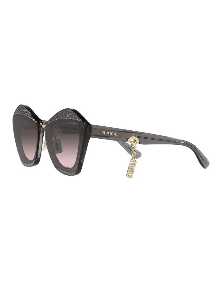 Grey/Pink Cat Eye Sunglasses 0MU 01XS image 3