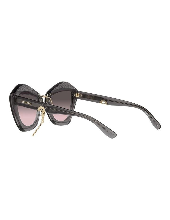 Grey/Pink Cat Eye Sunglasses 0MU 01XS image 5