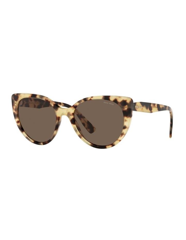 Brown Cat Eye Sunglasses 0MU 04XS image 1