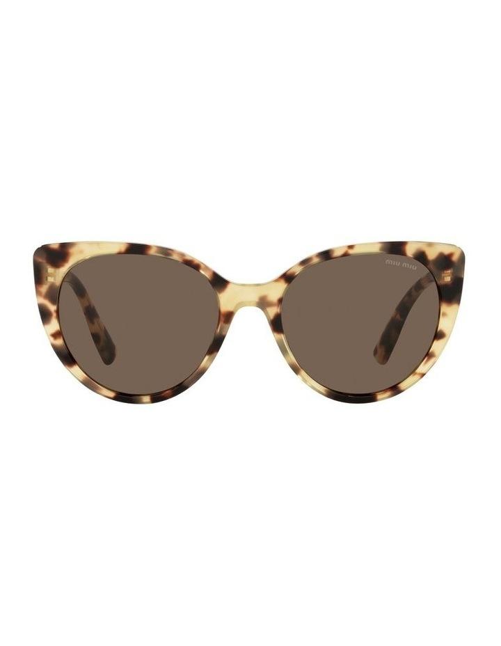 Brown Cat Eye Sunglasses 0MU 04XS image 2