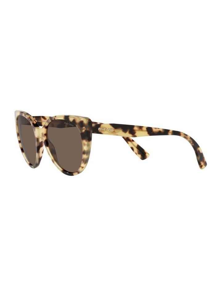 Brown Cat Eye Sunglasses 0MU 04XS image 3