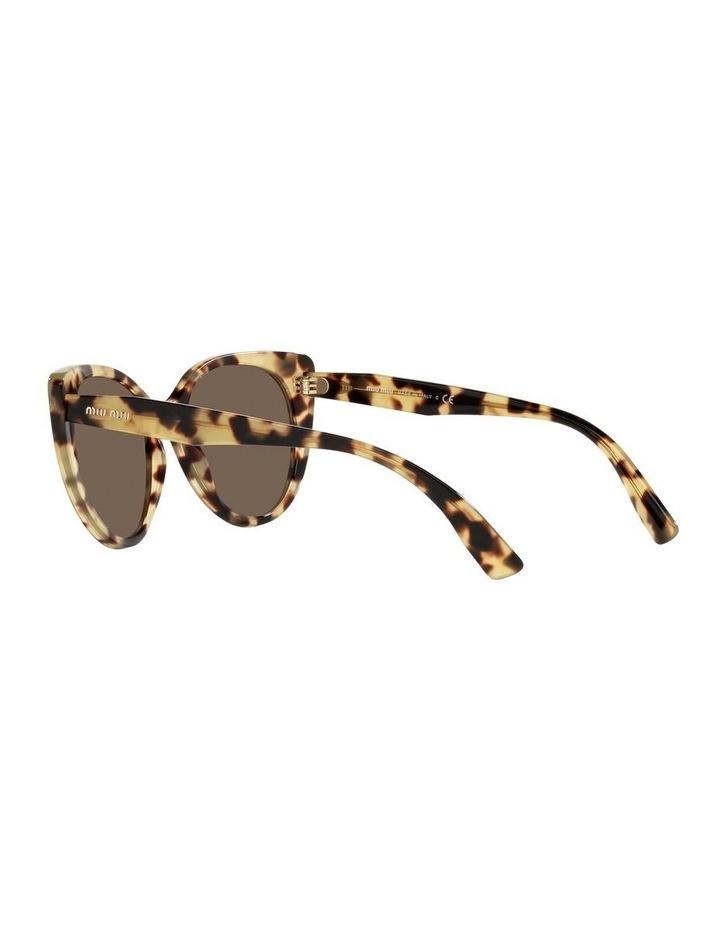 Brown Cat Eye Sunglasses 0MU 04XS image 5
