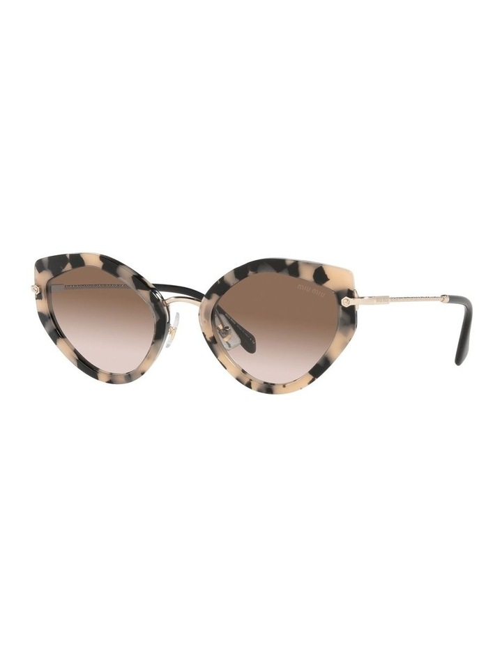 Brown Cat Eye Sunglasses 0MU 08XS image 1
