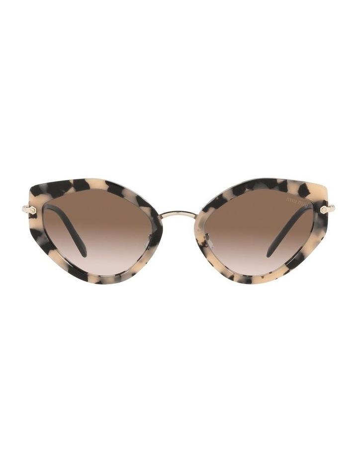Brown Cat Eye Sunglasses 0MU 08XS image 2