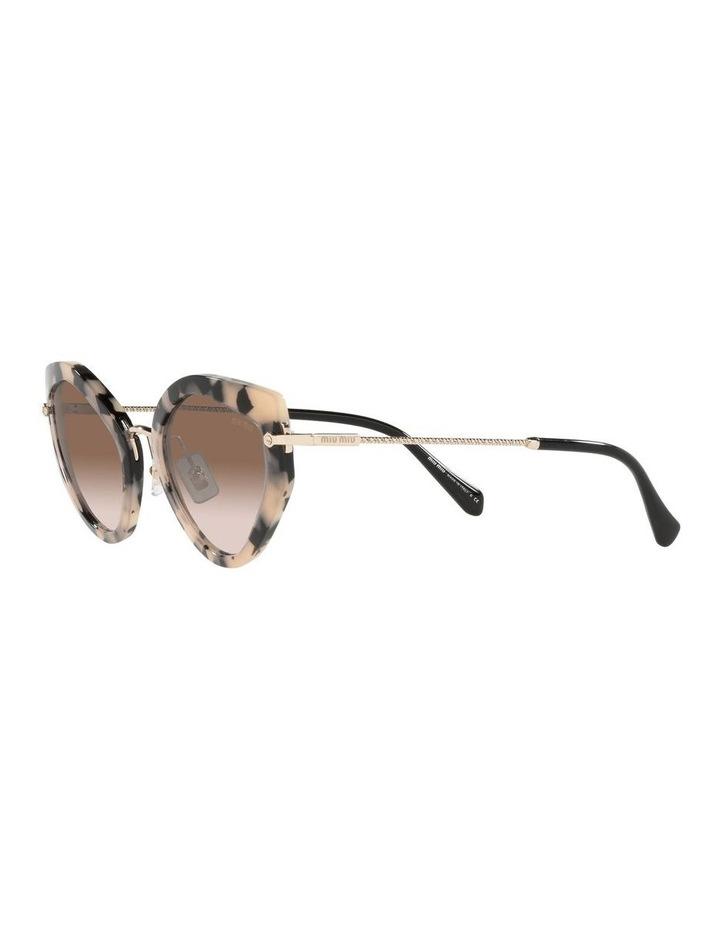 Brown Cat Eye Sunglasses 0MU 08XS image 3