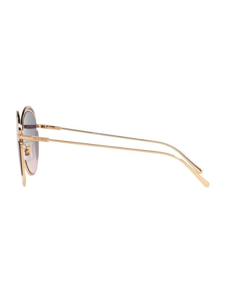 Taupe Square Sunglasses 0MU 56XS image 4