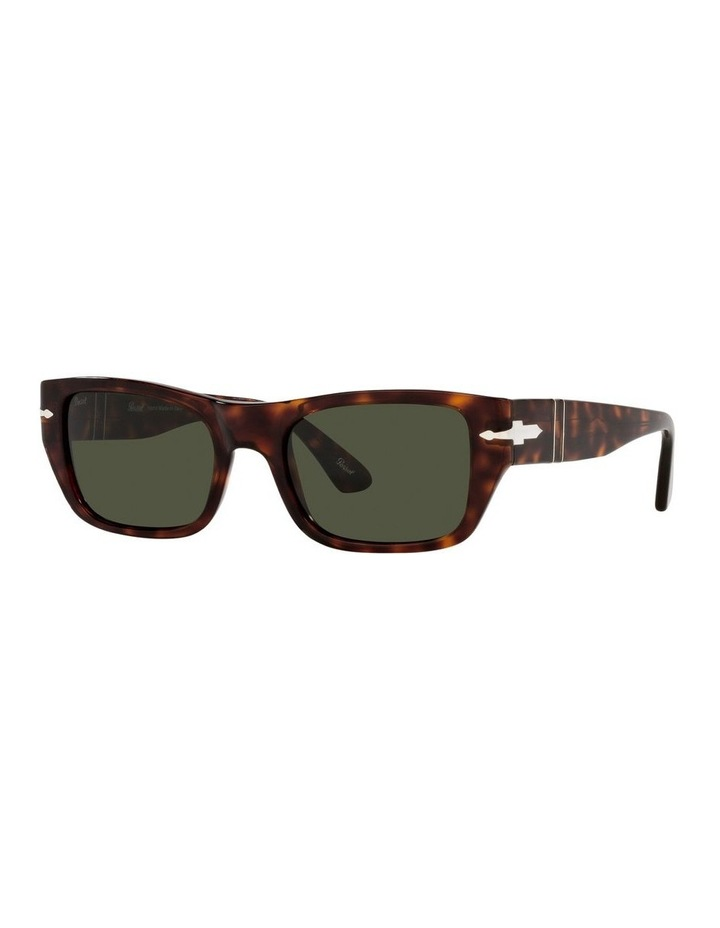 Tort/ Green Rectangle Sunglasses 0PO3268S image 1