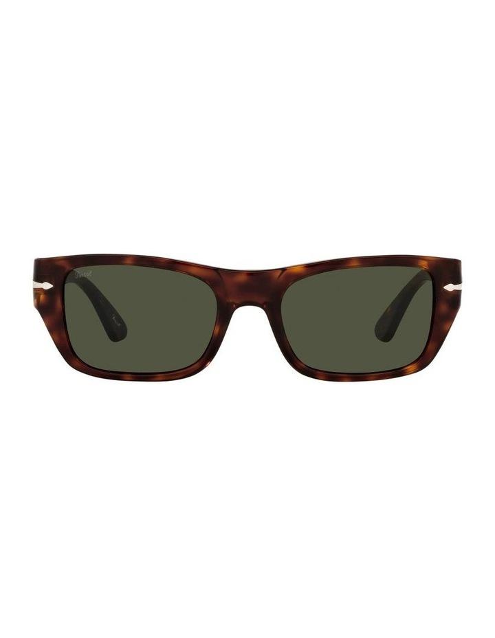 Tort/ Green Rectangle Sunglasses 0PO3268S image 2