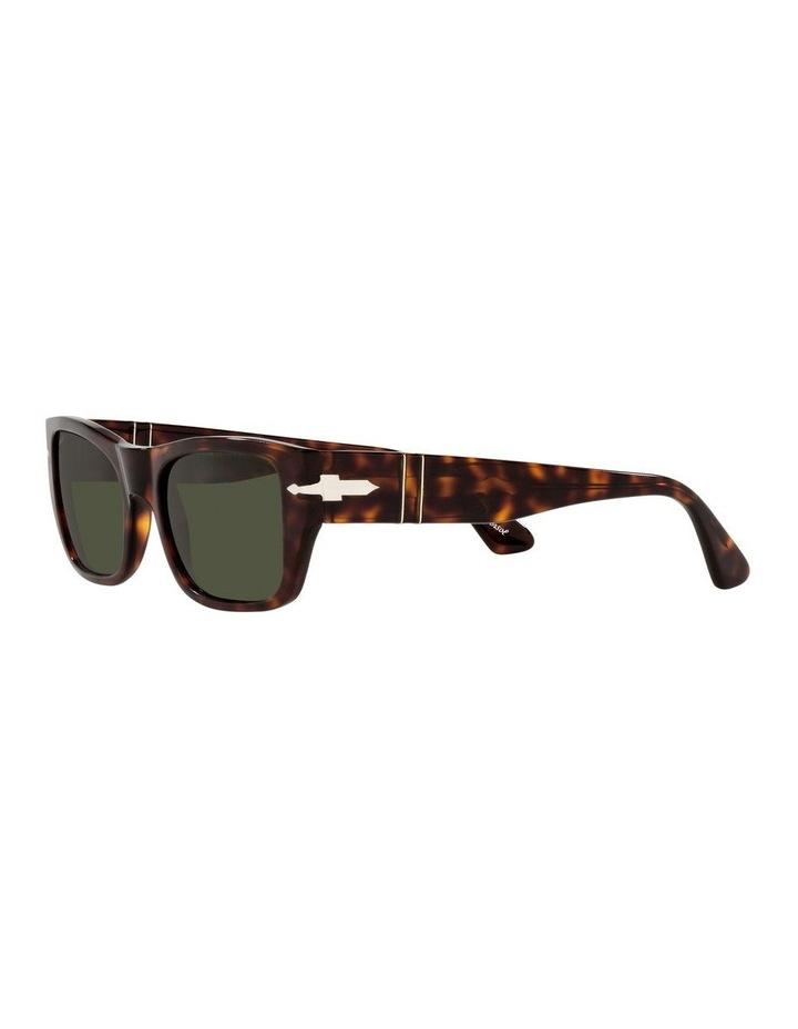 Tort/ Green Rectangle Sunglasses 0PO3268S image 3