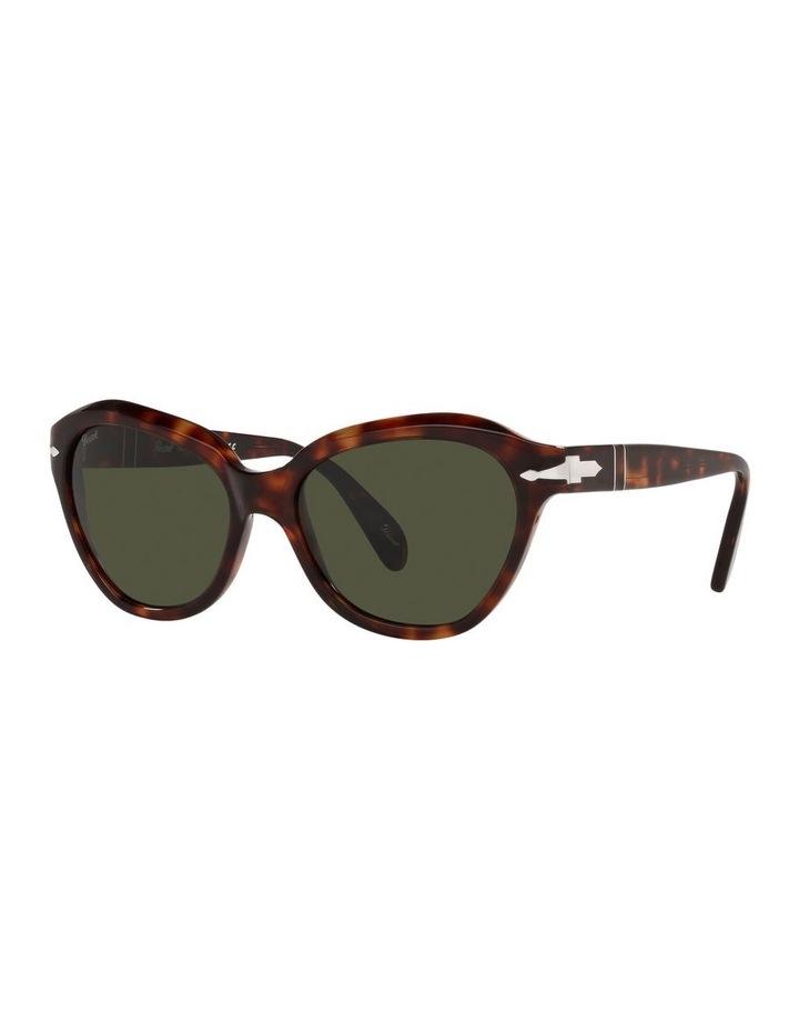 Tort/ Green Cat Eye Sunglasses 0PO0582S image 1