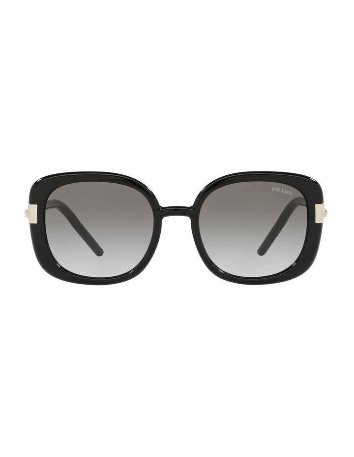 Black Rectangle Sunglasses 0PR 04WS image 2
