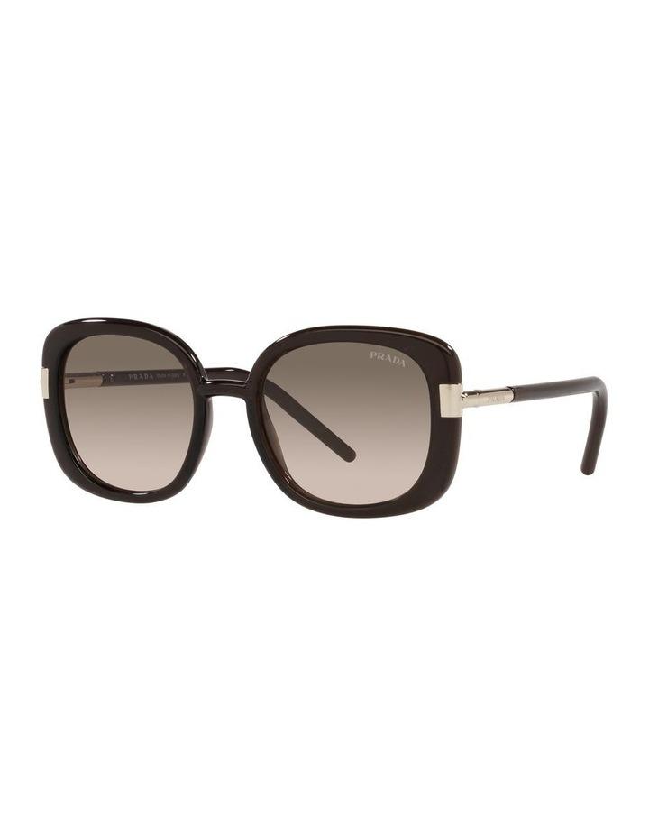 Brown Rectangle Sunglasses 0PR 04WS image 1