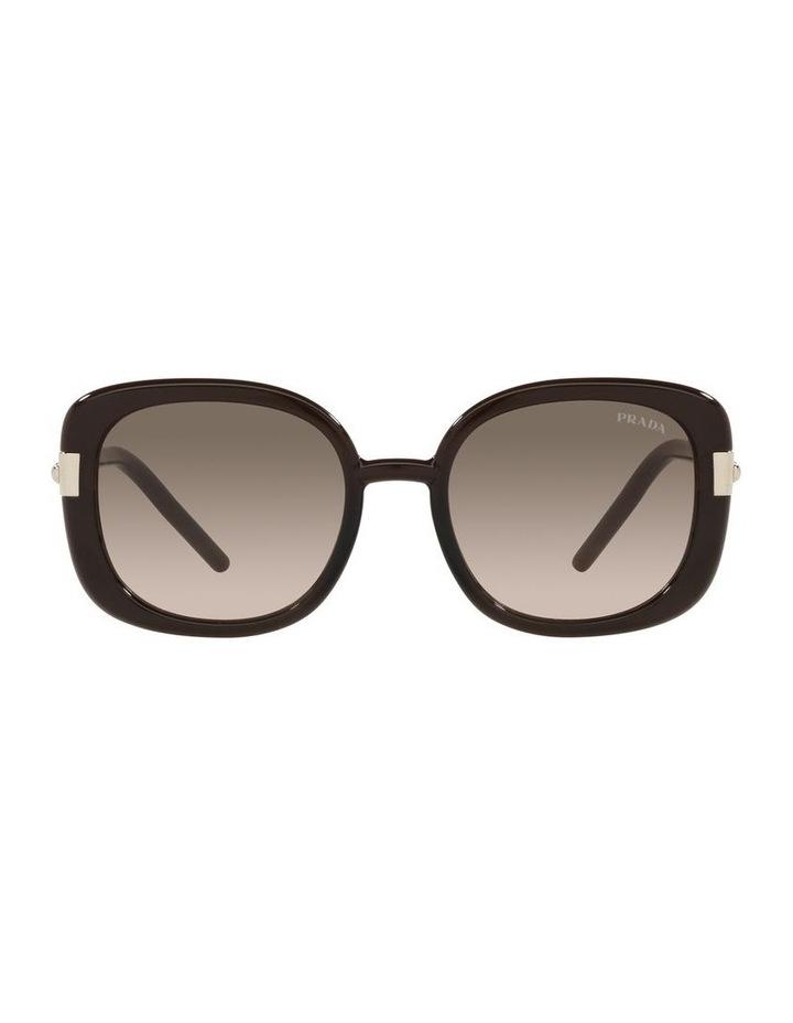 Brown Rectangle Sunglasses 0PR 04WS image 2