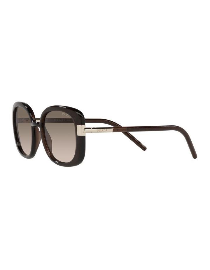 Brown Rectangle Sunglasses 0PR 04WS image 3