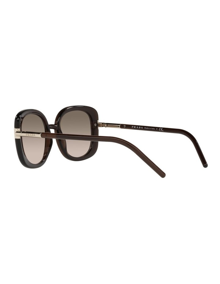 Brown Rectangle Sunglasses 0PR 04WS image 5
