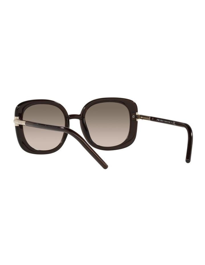 Brown Rectangle Sunglasses 0PR 04WS image 6