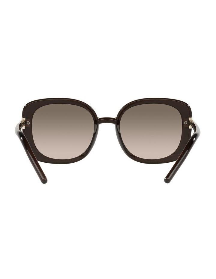 Brown Rectangle Sunglasses 0PR 04WS image 7
