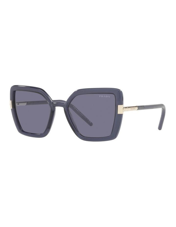 Purple Transparent Cat Eye Sunglasses 0PR 09WS image 1