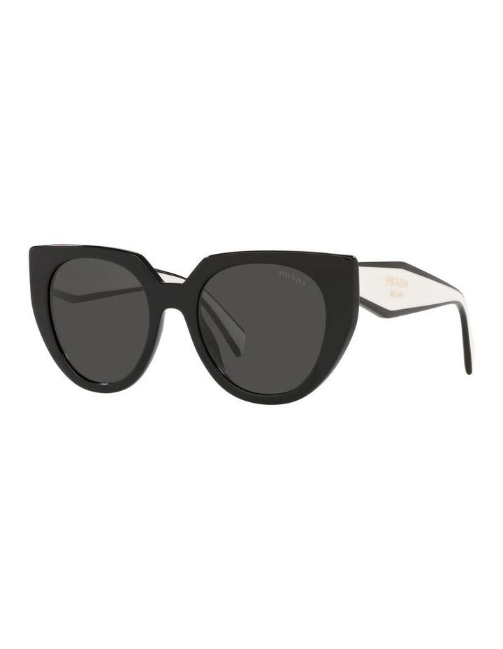Black/ Silver Cat Eye Sunglasses 0PR 14WS image 1